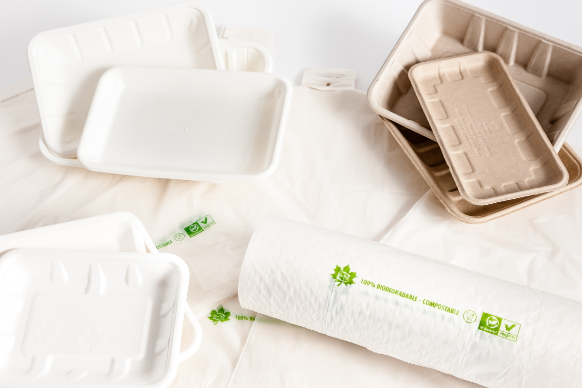 Safates i bosses compostables